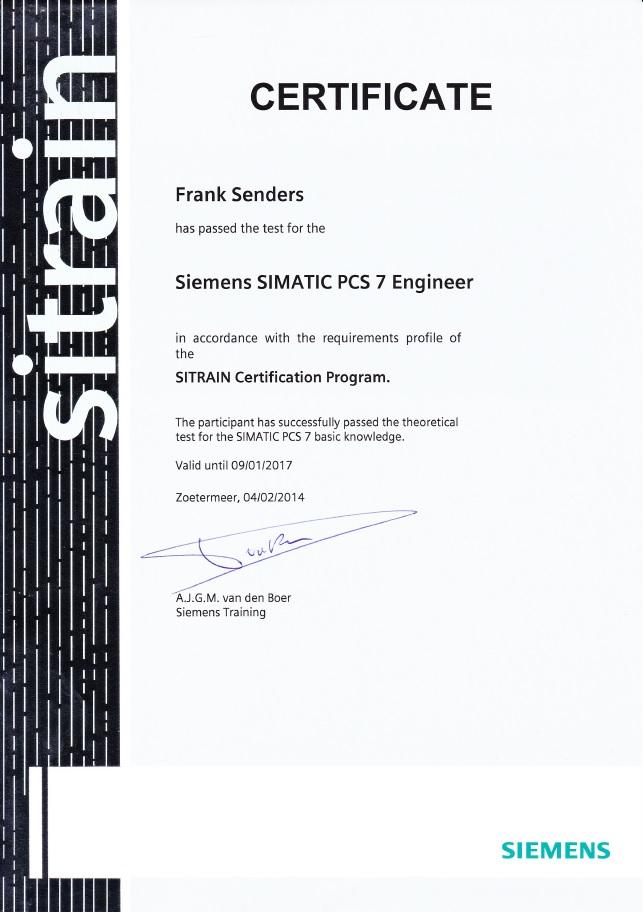 Certificate_PCS7_Frank_Senders_4StepsAhead_certificaat